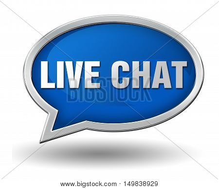 live chat badge 3d illustration isolated on white  background