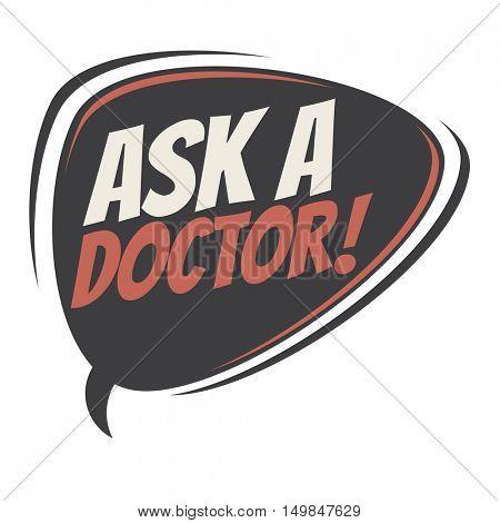 ask a doctor retro speech balloon