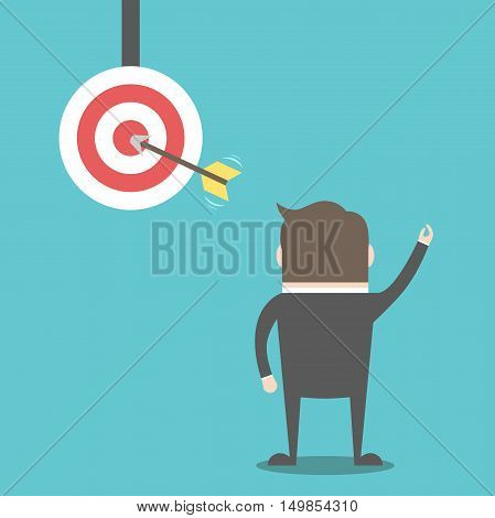 Businessman And Target