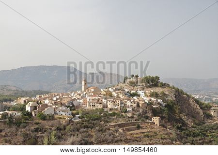 landscape of township of Polop de la Marina in the province of alicante spain