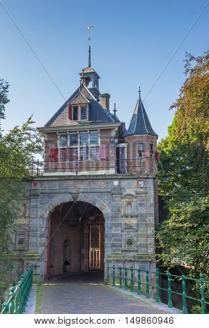 City Gate Oosterpoort In The Historical Center Of Hoorn