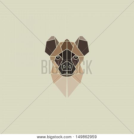 Hyena geometry head logo art vector design.