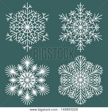 Decorative abstract snowflake. Vector illustrayion