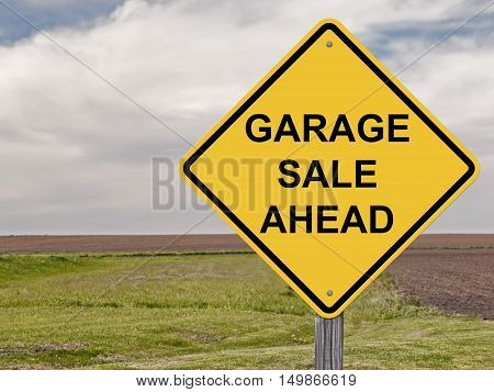 Caution Sign - Garage Sale Ahead Warning