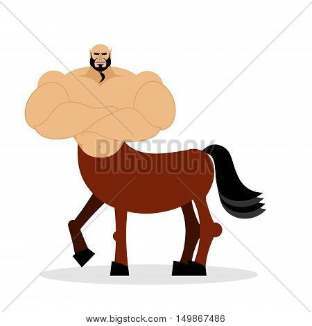 Centaur Mythical Creature. Half Horse Half Person. Sports Creature. Fairy-tale Characters Athlete. M