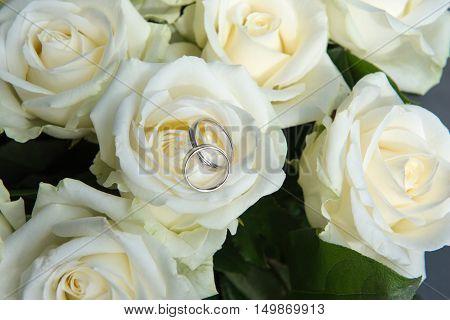 White Roses At Wedding