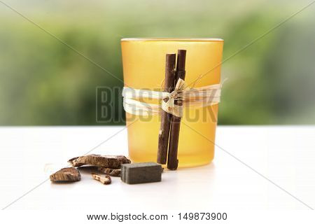 pot pourri candle holder, autumn wicca home decoration