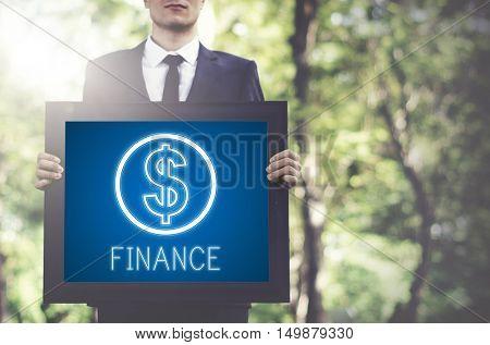 Finance Investment Money Cash Icons Graphics Concept