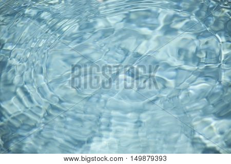 Abstract background of rippled clear colorful water