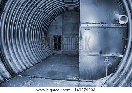 Abandoned bunker. Lost city. Near Chernobyl area. Kiev region, Ukraine