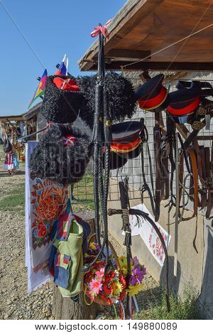 Whips And Headgear Cossacks On A Makeshift Market