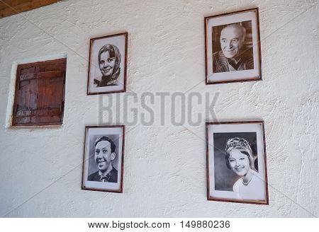 Portraits Of Famous But Deceased Actors Of The Soviet Cinema