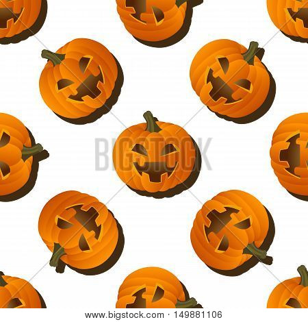 Pumpkin pattern on a white background for Halloween