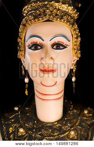close up Thai Land Puppet Theater