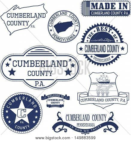 Generic Stamps And Signs Of Cumberland County, Pa