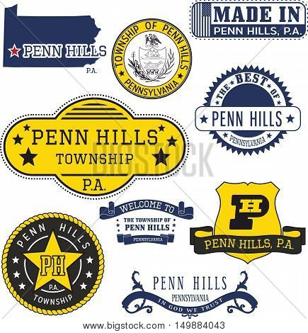 Generic Stamps And Signs Of Penn Hills Townhip, Pa