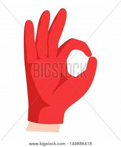 Ok hand success gesture