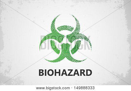 Biohazard logo design. Biohazard poster. Grunge poster