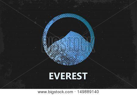 Mountain Logo design. Everest logo. Mountain poster