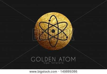 atom symbol. atom logo design. color atom. science logo