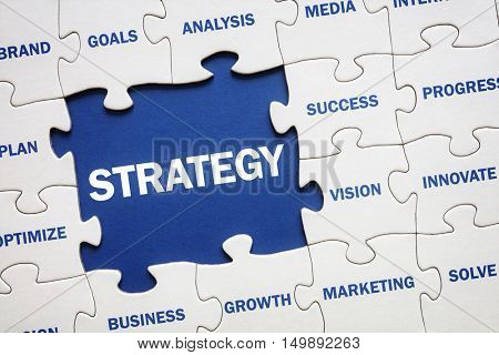 Business strategy solution jigsaw puzzle