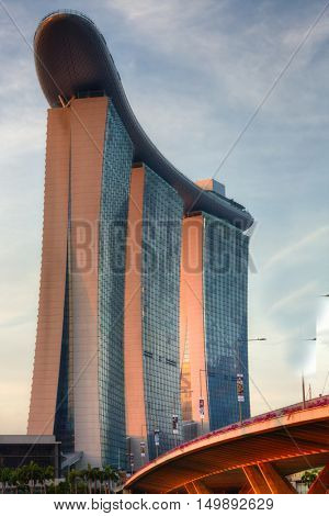 SINGAPORE, 4 April 2016 - Singapore's famous Marina Bay Sands hotel