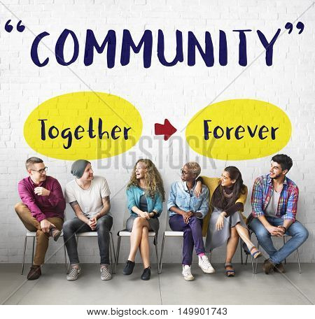 Friends Harmony Fellowship Togetherness Concept poster