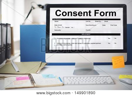 Consent Form Healthcare Medical Hospital Concept