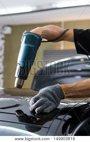 Car window tinting series : Heat shrinking moonroof film