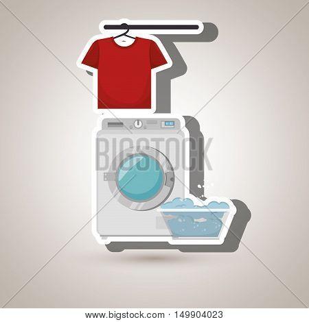 washing machine clothes detergent vector illustration eps 10 poster