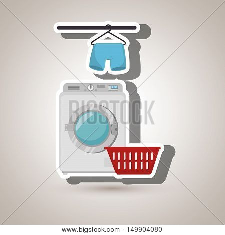washing machine hang tshirt detergent vector illustration eps 10