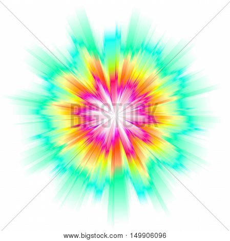 art color rays on white background illustration