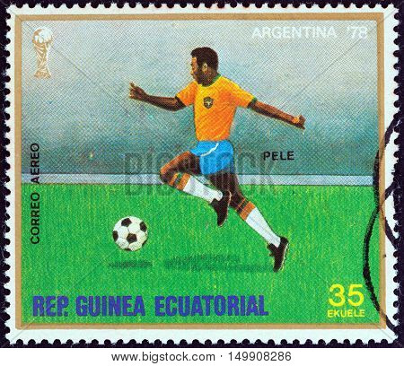 EQUATORIAL GUINEA - CIRCA 1977: A stamp printed in Equatorial Guinea from the