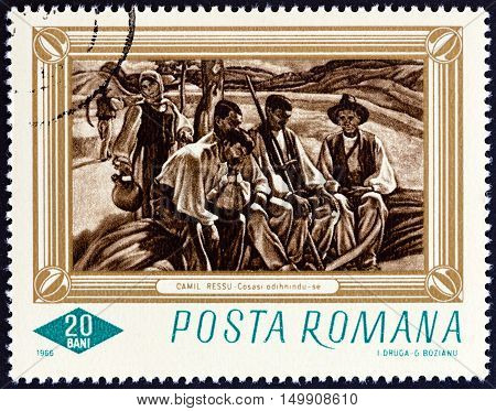 ROMANIA - CIRCA 1966: A stamp printed in Romania from the