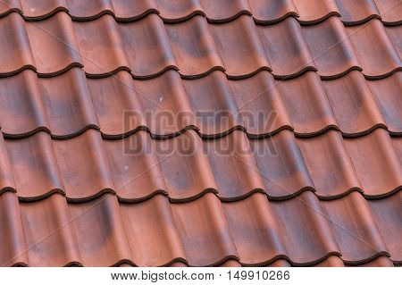 Red Tiles Roof Background