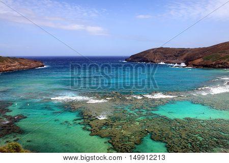 Hanauma Bay, Oahu, Hawaii..