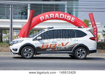 CHIANGMAI, THAILAND -FEBRUARY 16 2016: Private New suv car, Honda BRV. On road no.1001, 8 km from Chiangmai city.