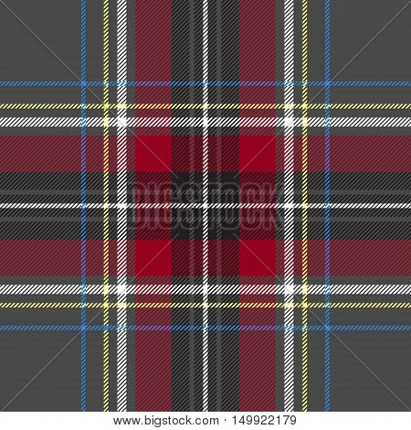 Gray red check plaid texture seamless pattern