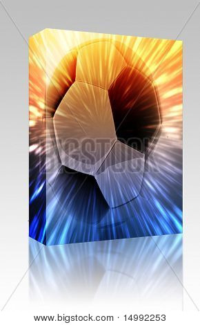 Software package box Shining modern soccer ball abstract wallpaper background