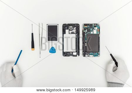 Mobile Phone Parts And Repairing Tools, Technician Workspace