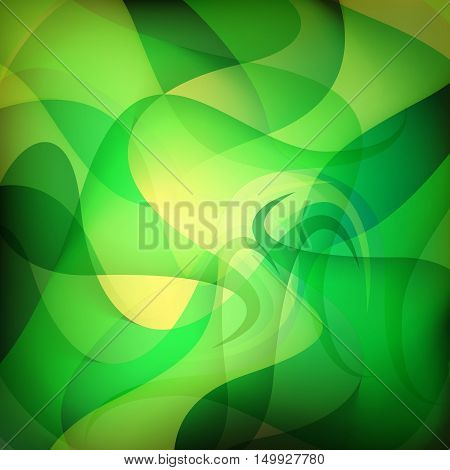 green wave abstract background design for decorative graphic