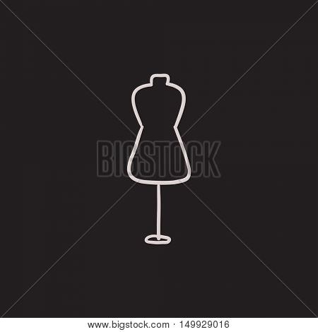 Mannequin vector sketch icon isolated on background. Hand drawn Mannequin icon. Mannequin sketch icon for infographic, website or app.