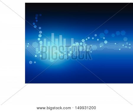 Abstract  Technology Line Hexagon Vector Background