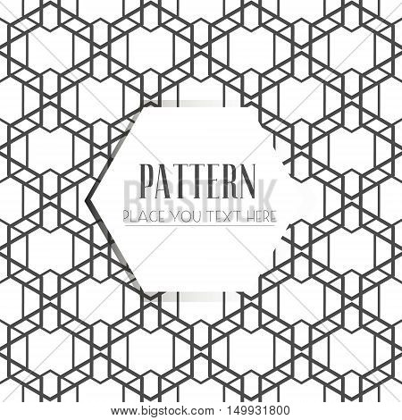 Seamless Pattern, Abstract Geometric Background, Black And White Stripes, Intertwining Lines.