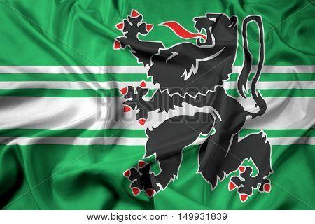 Waving Flag Of East Flanders Province, Belgium