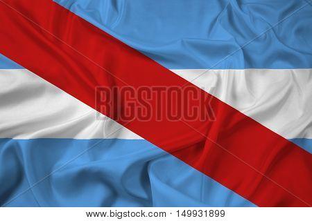 Waving Flag Of Entre Rios Province, Argentina