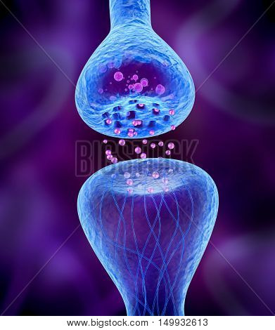 Active receptor isolated on blue, 3D render
