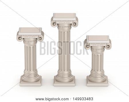 Antique doric style column - architectural detail