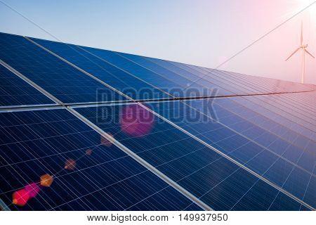 solar energy panels and wind turbine,china.