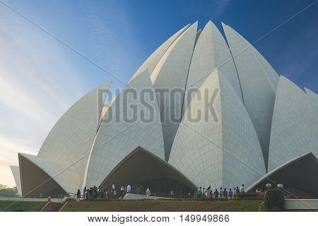The Lotus Temple, Located In New Delhi, India.